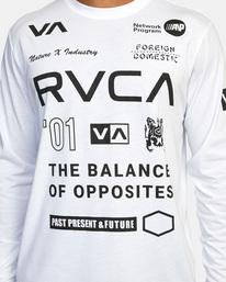 4 All Brand Long Sleeve Workout Shirt White AVYZT00844 RVCA