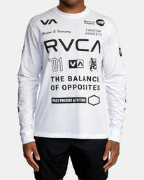 2 All Brand Long Sleeve Workout Shirt White AVYZT00844 RVCA