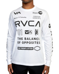 7 All Brand Long Sleeve Workout Shirt White AVYZT00844 RVCA