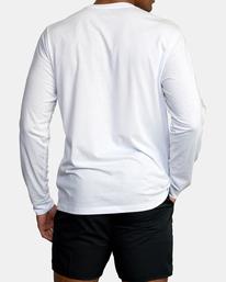 1 VA Sport   Big RVCA Speed Long Sleeve Workout Shirt White AVYZT00845 RVCA