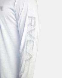 7 VA Sport   Big RVCA Speed Long Sleeve Workout Shirt White AVYZT00845 RVCA
