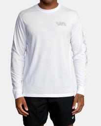 0 VA Sport   Big RVCA Speed Long Sleeve Workout Shirt White AVYZT00845 RVCA