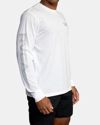 4 VA Sport   Big RVCA Speed Long Sleeve Workout Shirt White AVYZT00845 RVCA
