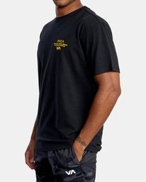 3 VA Sport   Hang Up Workout Shirt Black AVYZT00851 RVCA