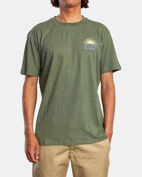 0 Harmonia Graphic Short Sleeve Tee Green AVYZT00882 RVCA