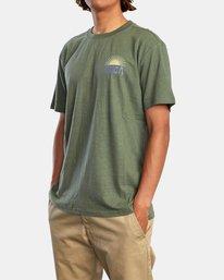 3 Harmonia Graphic Short Sleeve Tee Green AVYZT00882 RVCA