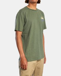 4 Harmonia Graphic Short Sleeve Tee Green AVYZT00882 RVCA