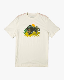 0 Melissa Grisancich   Mel G Panther Short Sleeve Tee White AVYZT00902 RVCA