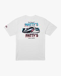 1 Matty Matheson | Matty's Patty's North Shore Short Sleeve Tee White AVYZT00965 RVCA