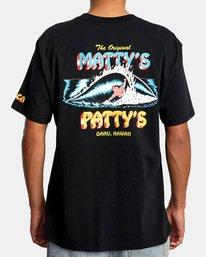 3 Matty Matheson   Matty's Patty's North Shore Short Sleeve Tee Black AVYZT00965 RVCA