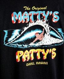 8 Matty Matheson   Matty's Patty's North Shore Short Sleeve Tee Black AVYZT00965 RVCA