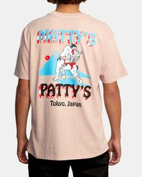 3 Matty Matheson | Matty's Patty's Tokyo Short Sleeve Tee Pink AVYZT01018 RVCA