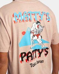 7 Matty Matheson | Matty's Patty's Tokyo Short Sleeve Tee Pink AVYZT01018 RVCA