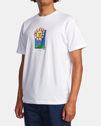 4 Spanky Flower Short Sleeve Tee White AVYZT01310 RVCA