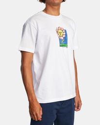 5 Spanky Flower Short Sleeve Tee White AVYZT01310 RVCA
