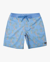 "0 Boy's KLW Palms 17"" Trunk Blue B101URKP RVCA"