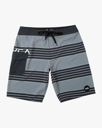 0 Boy's Uncivil Stripe Trunk Black B162TRUN RVCA