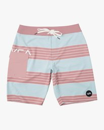 0 Boy's Uncivil Stripe Trunk Brown B162TRUN RVCA