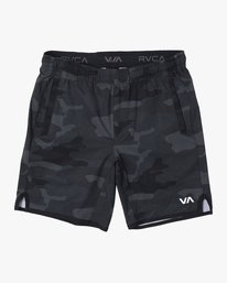 0 BOYS YOGGER STRETCH SHORT Black B2013RYS RVCA