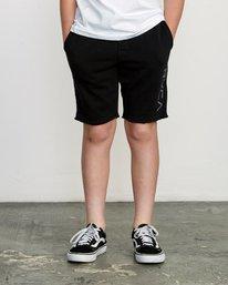 1 Boys Ripper Fleece Sweatshort Black B201URRI RVCA