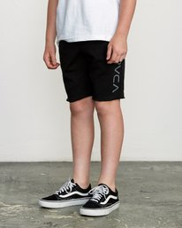3 Boys Ripper Fleece Sweatshort Black B201URRI RVCA