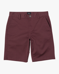 "0 BOYS WEEKDAY STRETCH SHORT 18"" Red B240TRWD RVCA"
