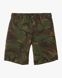 0 Boy's Weekday Stretch Short Camo B240TRWD RVCA