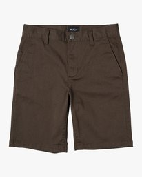 0 Boy's Weekday Stretch Short Brown B240TRWD RVCA