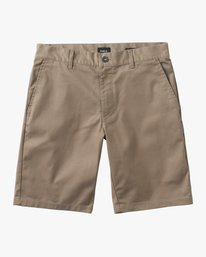 0 Boy's Weekday Stretch Short Green B240TRWD RVCA