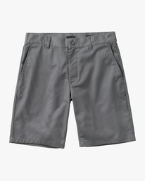 0 Boy's Weekday Stretch Short Grey B240TRWD RVCA