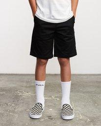 1 Boys Weekday Stretch Short Black B240TRWD RVCA