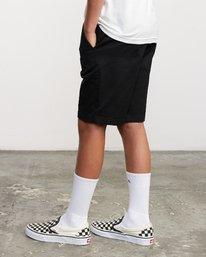 4 Boys Weekday Stretch Short Black B240TRWD RVCA
