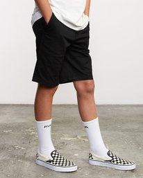 6 Boys Weekday Stretch Short Black B240TRWD RVCA