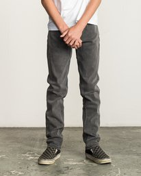 0 Boy's Daggers Denim Jeans Grey B302QRDA RVCA