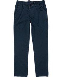 0 Boy's Weekend Elastic Straight Fit Pants  B3473RWE RVCA