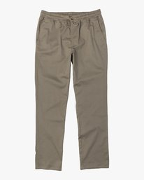 0 Boys WEEKEND ELASTIC straight fit PANT White B3473RWE RVCA