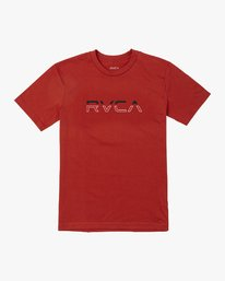 0 BOY'S SPLIT PIN T-SHIRT Red B4011RSP RVCA