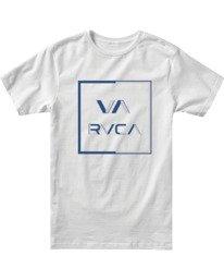 0 Boys CIRCUIT SHORT SLEEVE T-SHIRT White B4012RCI RVCA
