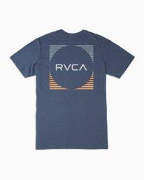0 Boy's Motorstripe T-Shirt Blue B401TRMS RVCA