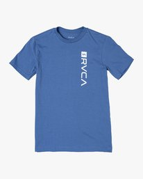 0 BOY'S RVCA BOX T-SHIRT Blue B401VRBO RVCA