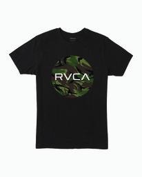 0 Boy's Motor Fill T-Shirt Black B401WRMO RVCA