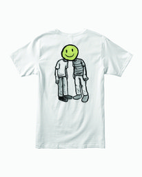 0 Boy's Pommier Twins T-Shirt White B401WRTW RVCA