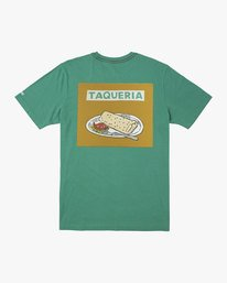 0 BOY'S TAQUERIA T-SHIRT Green B4061RTA RVCA