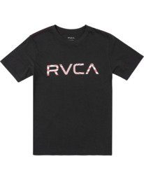 0 Boys BIG MAYDAY SHORT SLEEVE T-SHIRT Black B4062RBM RVCA