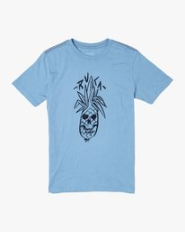 0 BOYS BONEAPPLE SHORT SLEEVE T-SHIRT Blue B4062RBO RVCA