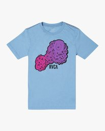 0 BOYS HOMIES SHORT SLEEVE T-SHIRT Blue B4062RHO RVCA