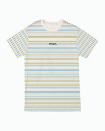 0 RUFF STRIPE SHORT SLEEVE T-SHIRT White B4063RRU RVCA
