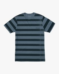 0 Boy's Copy Stripe T-Shirt Blue B406VRCO RVCA