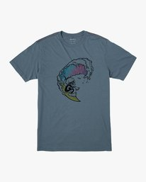 0 Boy's Tube Screamers T-Shirt Blue B406VRTS RVCA