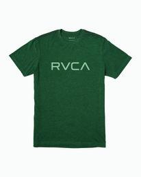 0 BOY'S BIG RVCA T-SHIRT Green B406WRBI RVCA